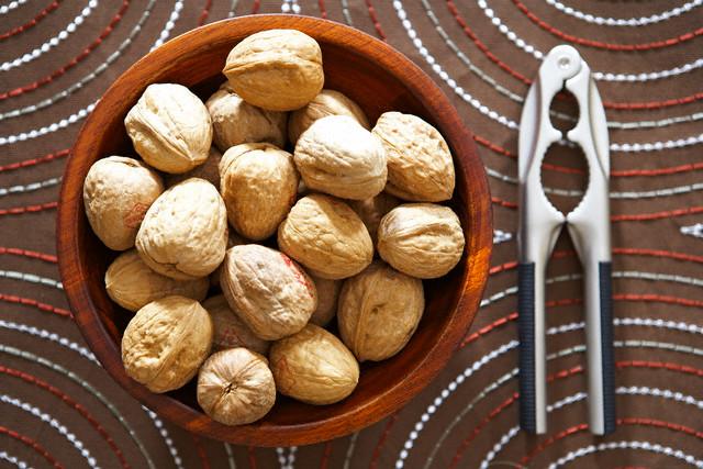 Bowl of Walnuts and Nutcracker