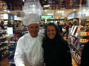 Angela e il maitre chocolatier della Lindt