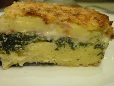 Gateau di patate con spinaci