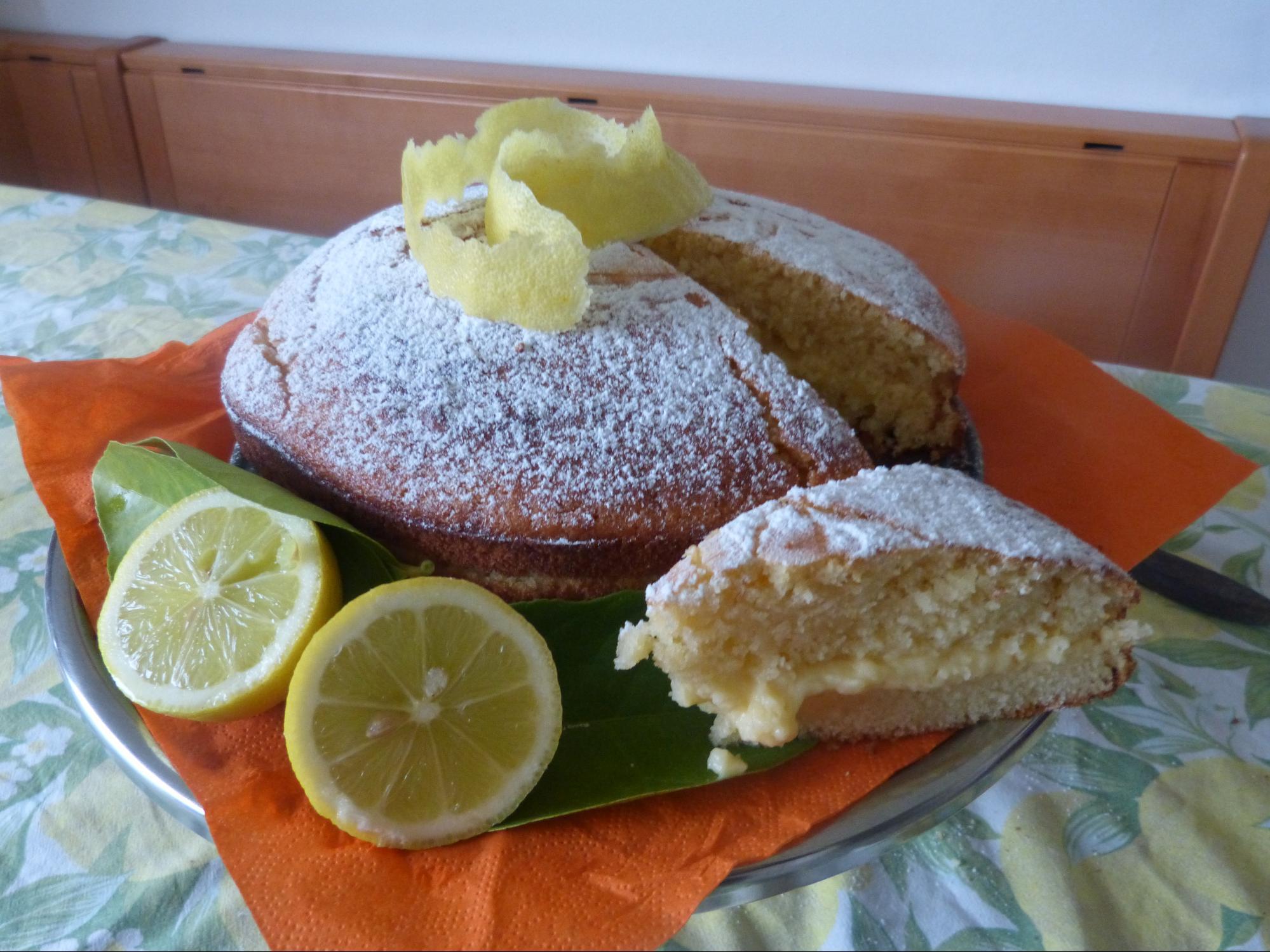 torta al limone leggera
